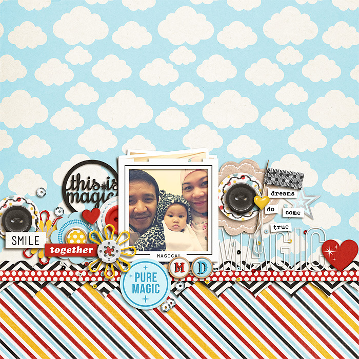 Pure Magic digital scarpbooking page by scrappydonna using Project Mouse Basics (No.2) by Britt-ish Designs & Sahlin Studio