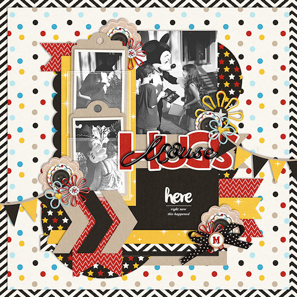 Disney Mouse Hugs digital scrapbooking page by wendy using Project Mouse Basics (No.2) by Britt-ish Designs & Sahlin Studio