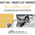 Pocket This / Project Life Inspiration - Journaling ON Your Photos