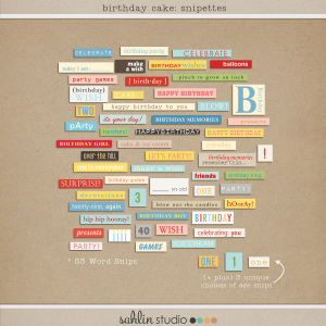 Birthday Cake: Snipettes by Sahlin Studio