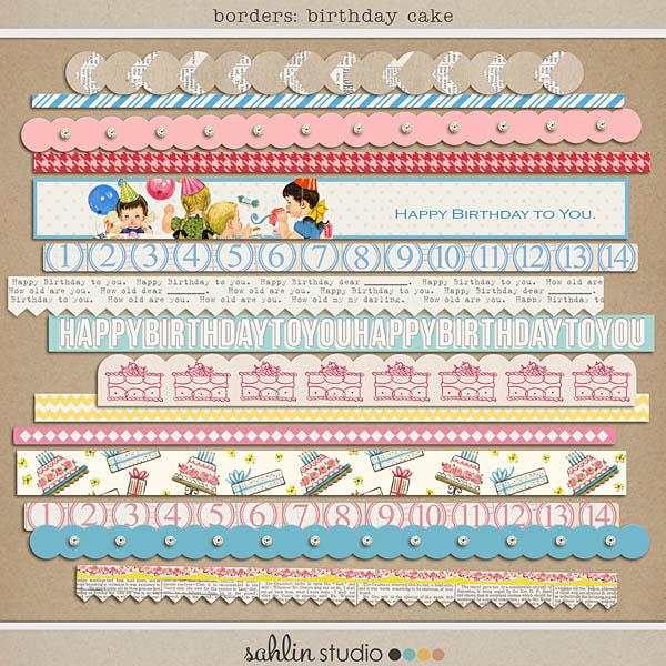 Birthday Cake (Borders) by Sahlin Studio