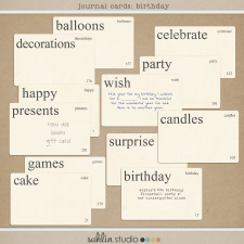 Journal Cards: Birthday by Sahlin Studio