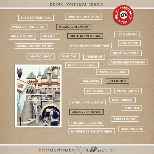 Photo Overlays: Magic by Sahlin Studio & Britt-ish Designs | Project Mouse Perfect for Photo Overlays in your Project Life album!