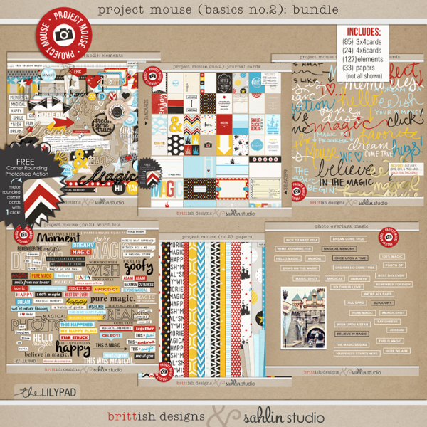 Project Mouse (No.2): BUNDLE by Britt-ish Designs & Sahlin Studio & Perfect for your Disney Project Life album!