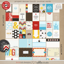 Project Mouse (No.2): Journal Cards by Britt-ish Designs & Sahlin Studio & Perfect for your Project Life album!