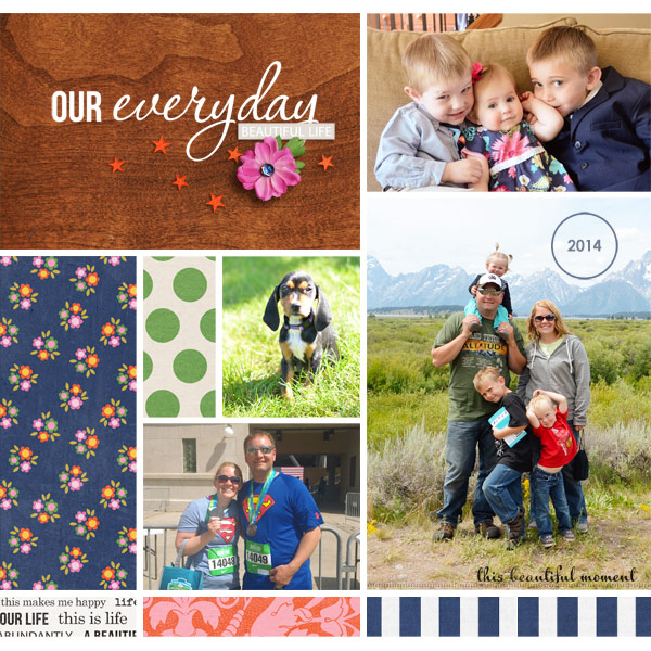 digital scrapbook layout created by plumdumpling featuring April 2015 Free Template and Life As We Know It by Sahlin Studio