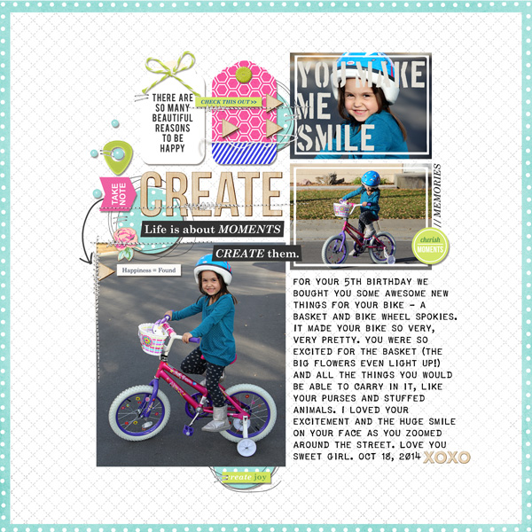 Beautiful digital scrapbook layout by TNAnderson - using CREATE (Kit Sampler) by Sahlin Studio - AddOn to Memory Pocket Monthly MPM Subscription
