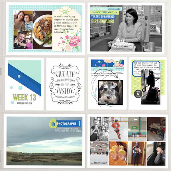 Beautiful Project Life page by ctmm4 - using CREATE (Kit Sampler) by Sahlin Studio - AddOn to Memory Pocket Monthly MPM Subscription
