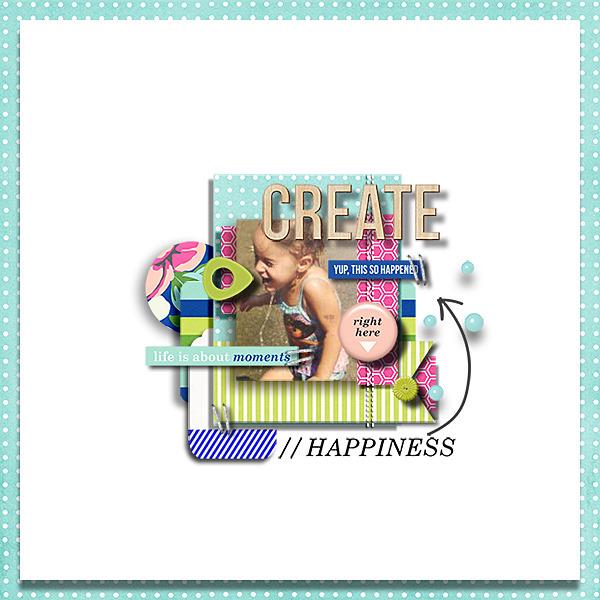 digital scrapbook layout by dotcomkari1 - using CREATE (Kit Sampler) by Sahlin Studio - AddOn to Memory Pocket Monthly MPM Subscription