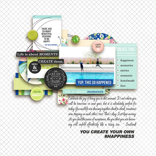 Beautiful digital scrapbook layout by margelz - using CREATE (Kit Sampler) by Sahlin Studio - AddOn to Memory Pocket Monthly MPM Subscription