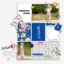 Beautiful digital Project Life page by sucali - using CREATE (Kit Sampler) by Sahlin Studio - AddOn to Memory Pocket Monthly MPM Subscription
