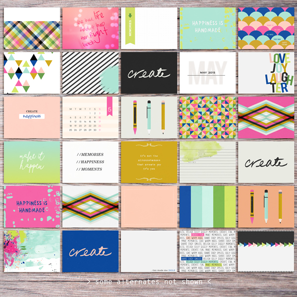 Memory Pockets Monthly: CREATE by The LilyPad Designers & Sahlin Studio - Perfect for your Project Life albums!
