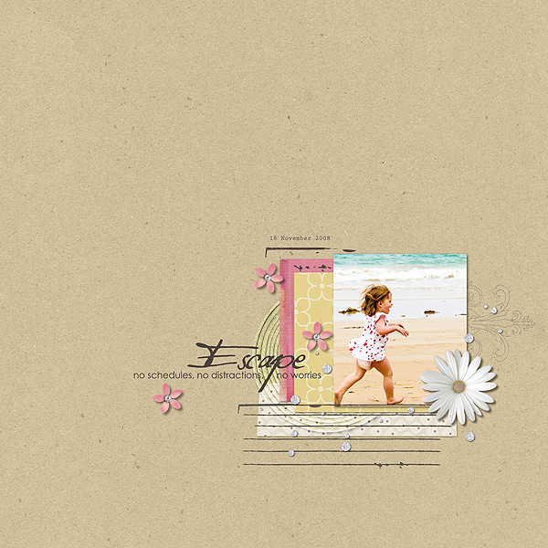 Beautiful Digital Scrapbook Layout using Rejuvenate by Sahlin Studio