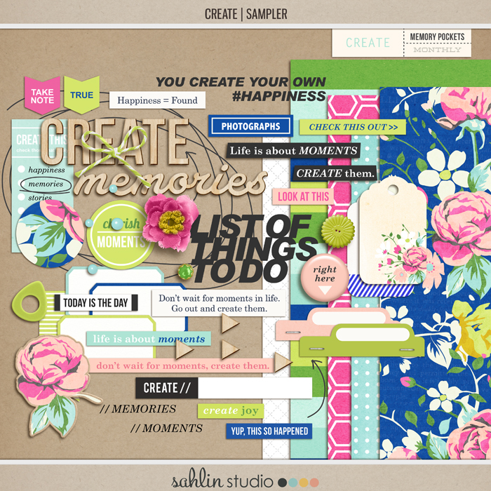 CREATE (Kit Sampler) by Sahlin Studio - AddOn to Memory Pocket Monthly MPM Subscription