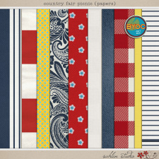 Country Fair Picnic (Papers) by Sahlin Studio