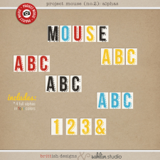 Project Mouse (Basics No.2): Alphas by Britt-ish Designs and Sahlin Studio