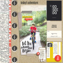 """Travel digital scrapbook layout by mikinenn using """"You Are Here"""" collection by Sahlin Studio"""
