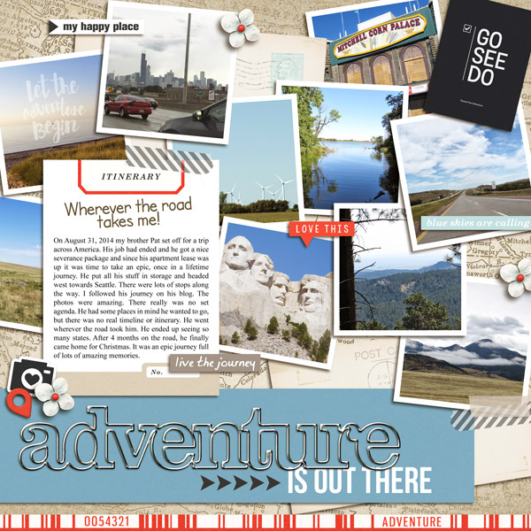 """Travel digital scrapbook layout by yzerbear19 using """"You Are Here"""" collection by Sahlin Studio"""
