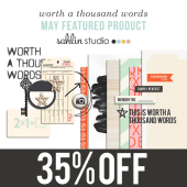 worth a thousand words by sahlin studio - Perfect for scrapbooking, Project Life and documenting your memories!!