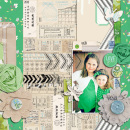 digital scrapbook layout created by JennBarrette featuring Down the Lane by Sahlin Studio