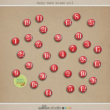 Daily Date Brads No. 1 by Sahlin Studio