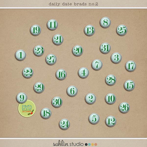 Daily Date Brads No. 2 by Sahlin Studio