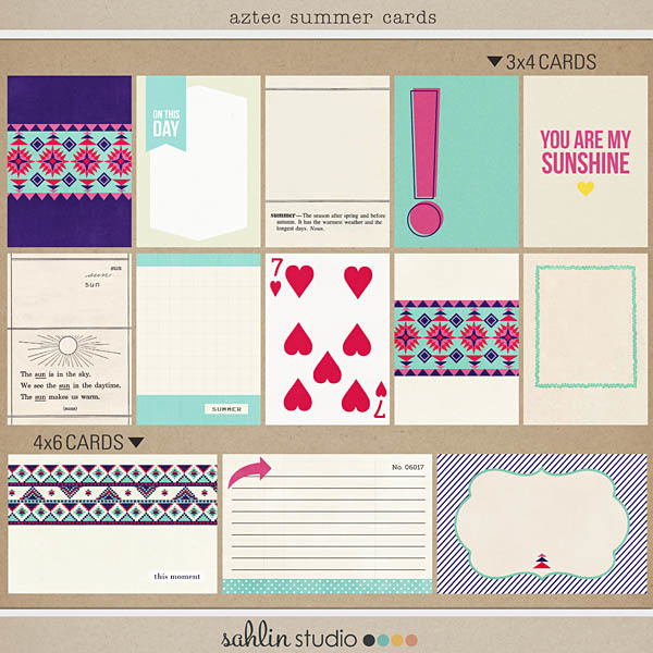 Aztec Summer (Journal Cards) by Sahlin Studio