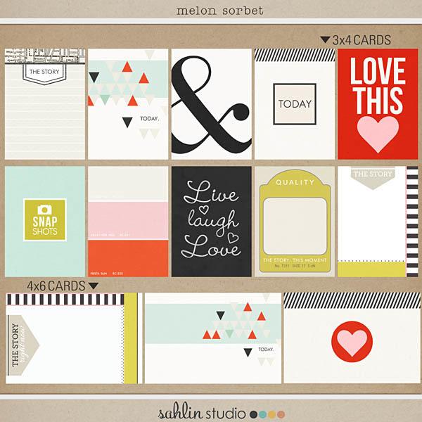 Melon Sorbet (Journal Cards) by Sahlin Studio