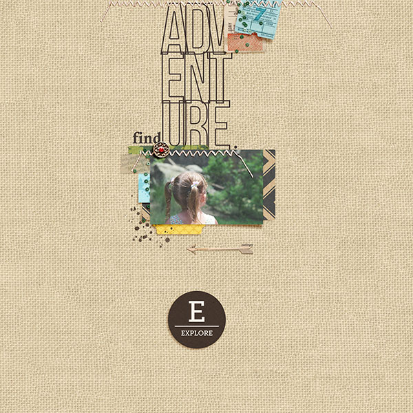 Find Adventure digital scrapbooking page by 3littleks using Project Mouse (Adventure) by Britt-ish Designs and Sahlin Studio