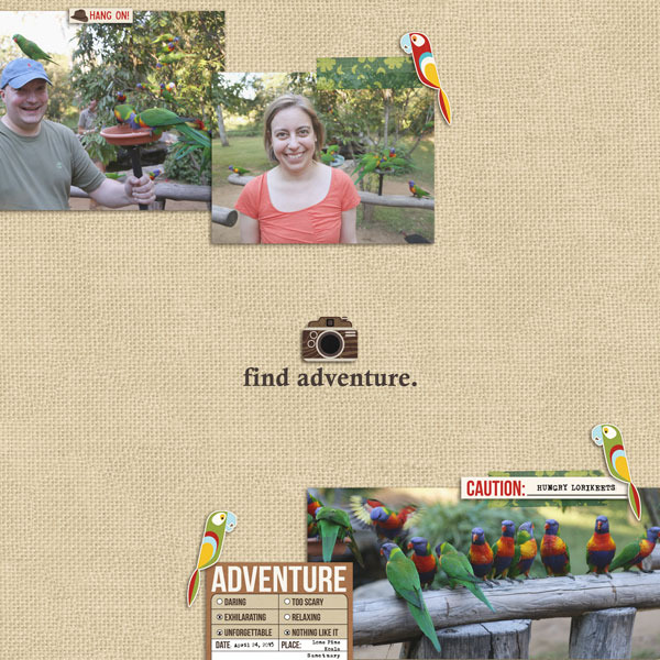 Find Adventure digital scrapbooking page by Cristina using Project Mouse (Adventure) by Britt-ish Designs and Sahlin Studio