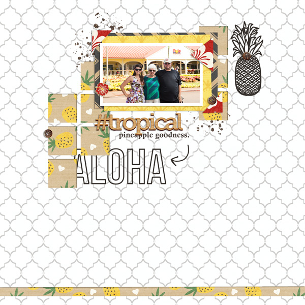 Aloha digital scrapbooking page by EHStudios using Project Mouse (Adventure) by Britt-ish Designs and Sahlin Studio