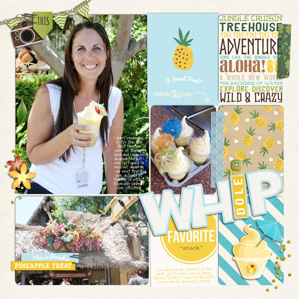 Dole Whip digital Project Life page by fonnetta using Project Mouse (Adventure) by Britt-ish Designs and Sahlin Studio