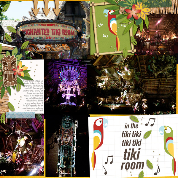 Enchanted Tiki Room digital pocket scrapbooking pgae by fonnetta2 using Project Mouse (Adventure) by Britt-ish Designs and Sahlin Studio