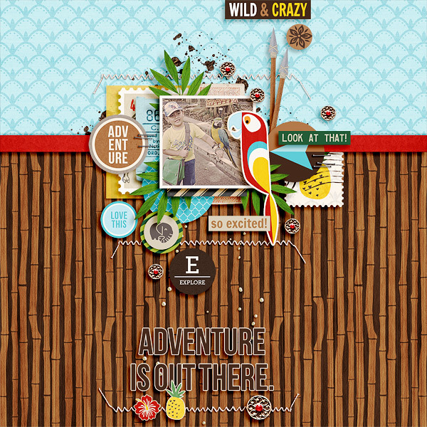 Adventure Is Right Here digital scrapbooking page by icajovita using Project Mouse (Adventure) by Britt-ish Designs and Sahlin Studio
