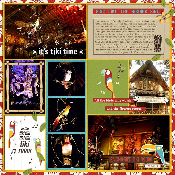 It's Tiki Time digital pocket scrapbooking page by jan using Project Mouse (Adventure) by Britt-ish Designs and Sahlin Studio