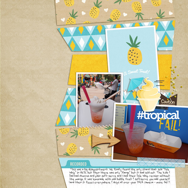 Tropical Fail digital scrapbooking page by justine using Project Mouse (Adventure) by Britt-ish Designs and Sahlin Studio