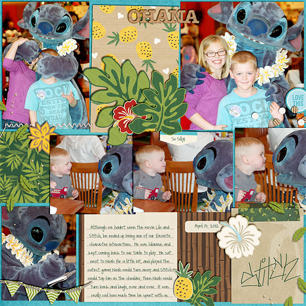 Disney Stitch Meet and Greet digital pocket scrapbooking page by kelsy using Project Mouse (Adventure) by Britt-ish Designs and Sahlin Studio