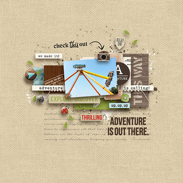 Adventure Is Out There digital scrapbooking page by margelz using Project Mouse (Adventure) by Britt-ish Designs and Sahlin Studio