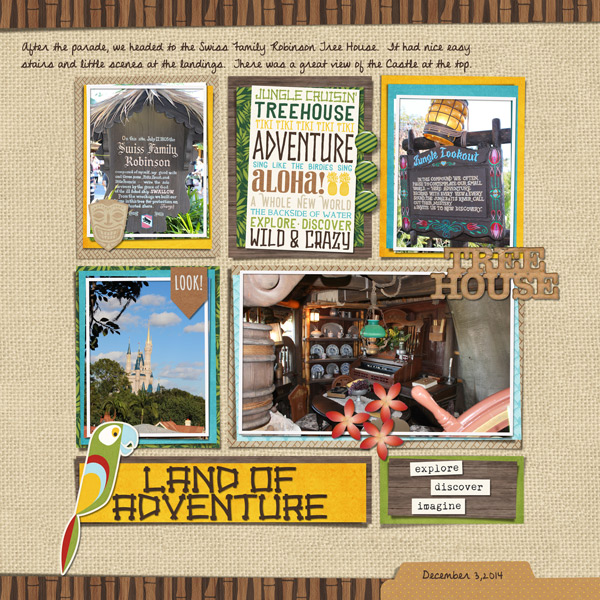 Land of Adventure digital scrapbooking page by mnjenlittle using Project Mouse (Adventure) by Britt-ish Designs and Sahlin Studio