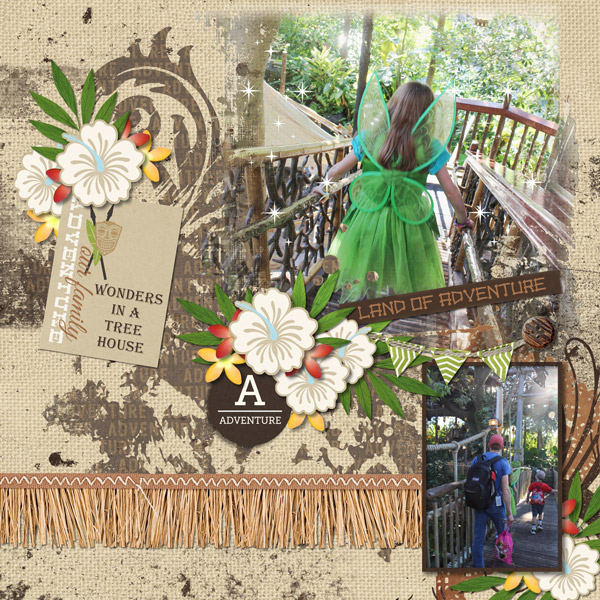 Adventure digital scrapbooking page by mnjenlittle using Project Mouse (Adventure) by Britt-ish Designs and Sahlin Studio