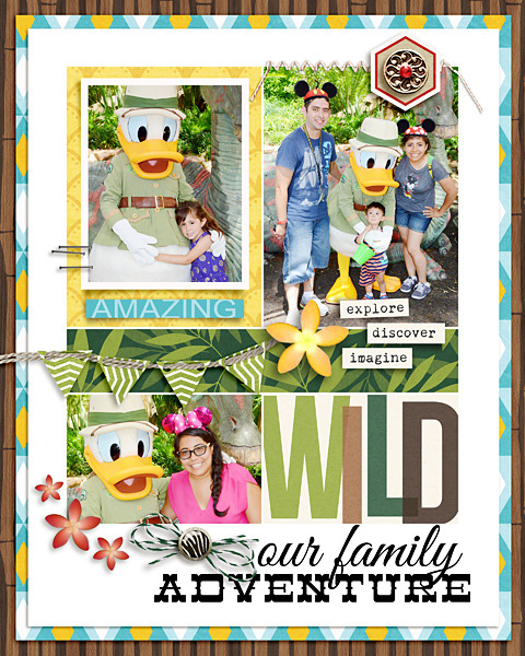 Our family adventure digital scrapbooking page by raquels using Project Mouse (Adventure) by Britt-ish Designs and Sahlin Studio