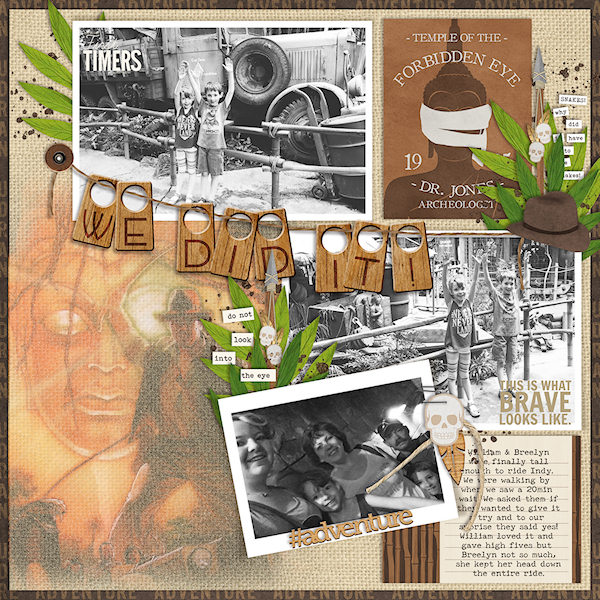 We Did It digital scrapbooking page by wendy using Project Mouse (Adventure) by Britt-ish Designs and Sahlin Studio