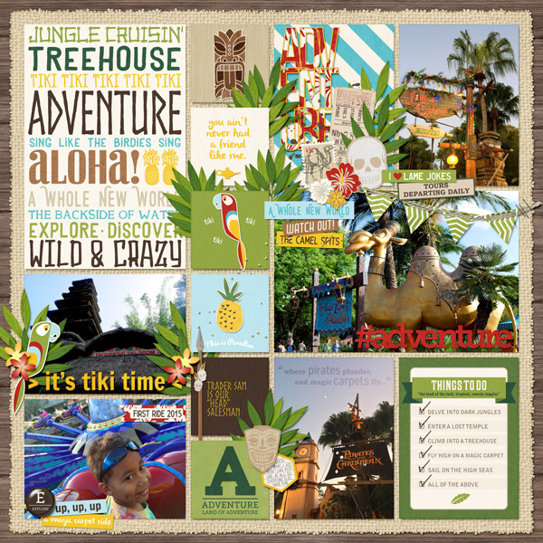 Disney Adventureland digital pocket scrapbooking page by PuSticks  using Project Mouse (Adventure) by Britt-ish Designs and Sahlin Studio