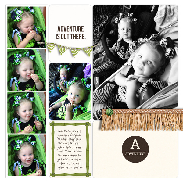 Adventure Is Out There Project Life page by britt using Project Mouse (Adventure) by Britt-ish Designs and Sahlin Studio