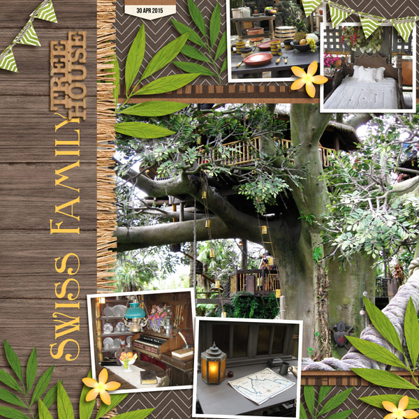 Disney Swiss Family Treehouse digital scrapbooking page by yzerbear19 using Project Mouse (Adventure) by Britt-ish Designs and Sahlin Studio