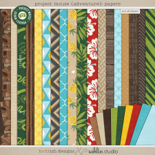 Project Mouse (Adventure): Papers | Digital Scrapbook Papers | Britt-ish Designs and Sahlin Studio