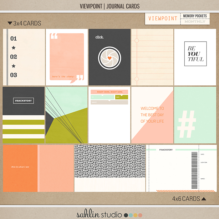 Viewpoint (Journal Cards) | Digital Journal Cards | by Sahlin Studio - Perfect for your Project Life or travel album!!