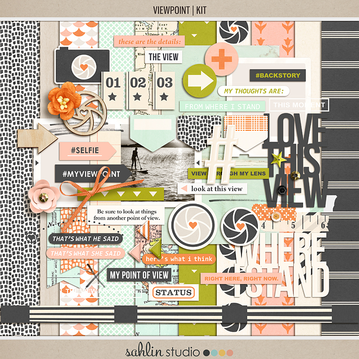 Viewpoint (Kit) | Digital Scrapbook Kit | by Sahlin Studio
