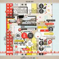 You Are Here by Sahlin Studio | Perfect for your travel adventures to use in your Project Life albums or scrapbooking layouts!
