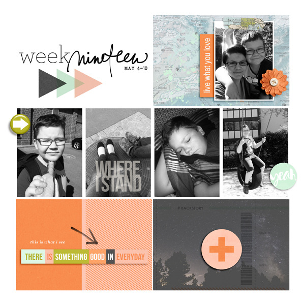 Week 19 digital pocket scrapbooking page by ArisaMinamoto using Viewpoint (Kit) by Sahlin Studio by Sahlin Studio - AddOn to Memory Pocket Monthly MPM Subscription